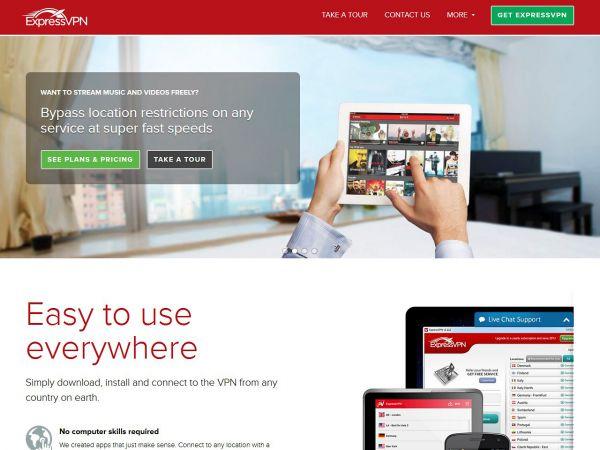 Website expressvpn.biz des VPN Anbieters ExpressVPN