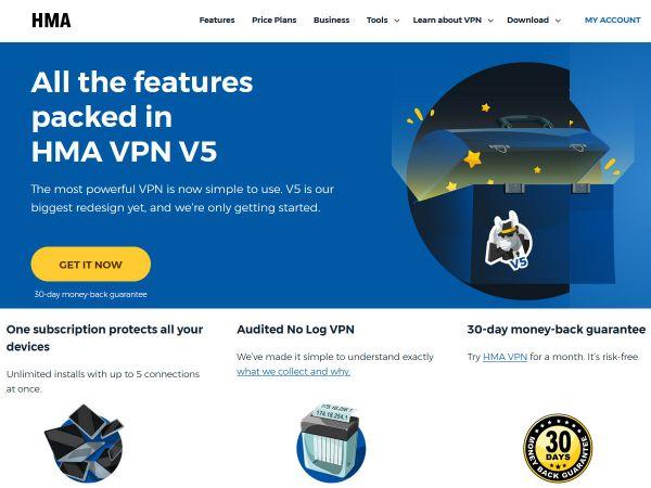 Website hidemyass.com des VPN Anbieters HideMyAss